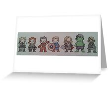 Biddy Avengers. Greeting Card