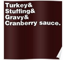 Thanksgiving Helvetica Poster