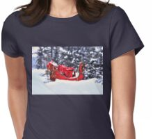 Omega Red Sleigh... Womens Fitted T-Shirt
