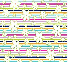 Floral Stripes by BuzzEdition