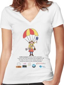 MotherJumpers 2014 Charity Skydive Women's Fitted V-Neck T-Shirt
