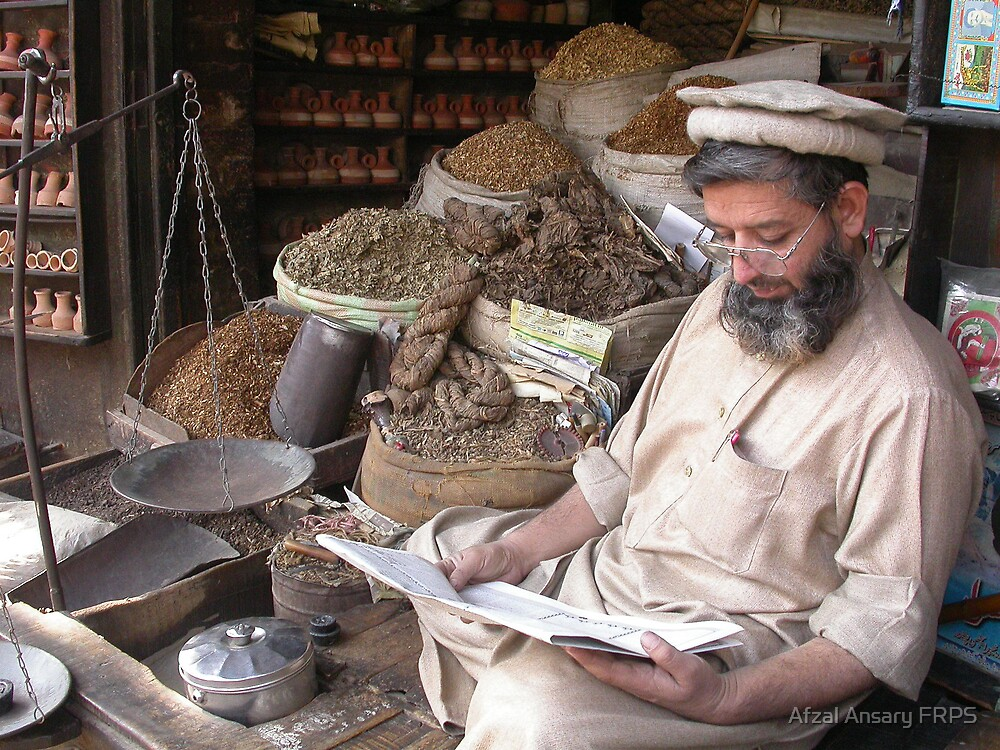 Tobacconist in Pakistan by Afzal Ansary FRPS