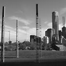 Parallel Lines : Melbourne Skyline by CDCcreative