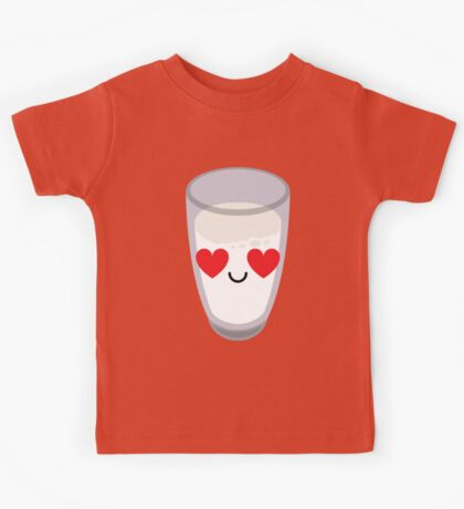 Milk Emoji Heart and Love Eye Kids Tee