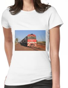 The Ghan train locomotive, Darwin Womens Fitted T-Shirt