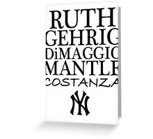 Costanza - Yankees Greeting Card