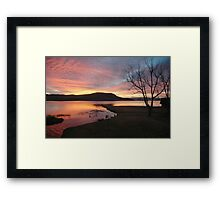 Firey sunrise  Framed Print