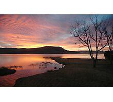 Firey sunrise  Photographic Print