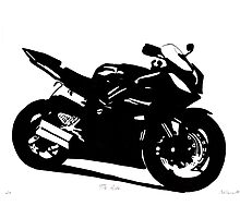 Yamaha R6 Pen & Ink Photographic Print