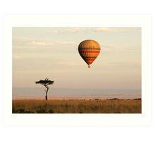 Dawn flight over the Masai Mara Art Print