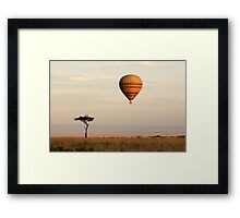 Dawn flight over the Masai Mara Framed Print