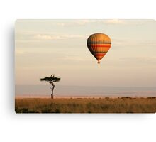 Dawn flight over the Masai Mara Canvas Print