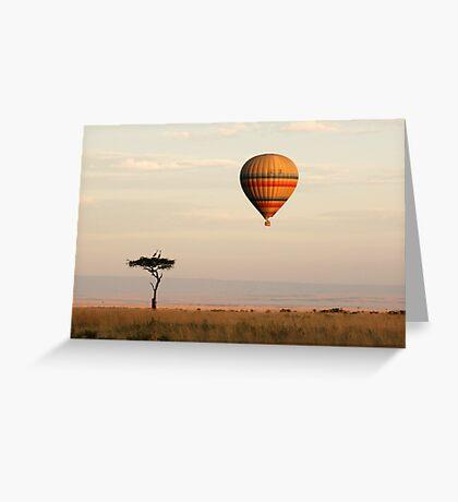 Dawn flight over the Masai Mara Greeting Card