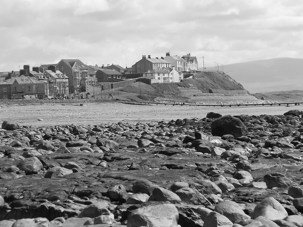 Seascale, Cumbria at low tide by turkish