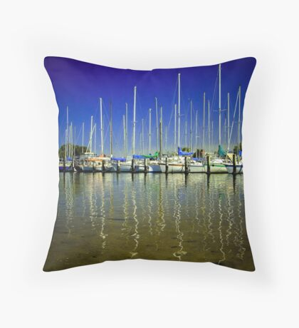 Boats Throw Pillow