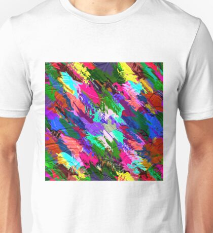 Abstract Acrylic Hand Painted Background                                       Unisex T-Shirt