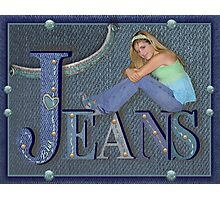 Blue Jeans Photographic Print