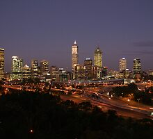 Perth skyline at dusk. by diablo