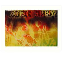 Noise Spray  Art Print