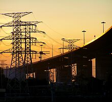 Industrial Sunset by QPhotography