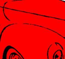 COOL RIDE RED Sticker