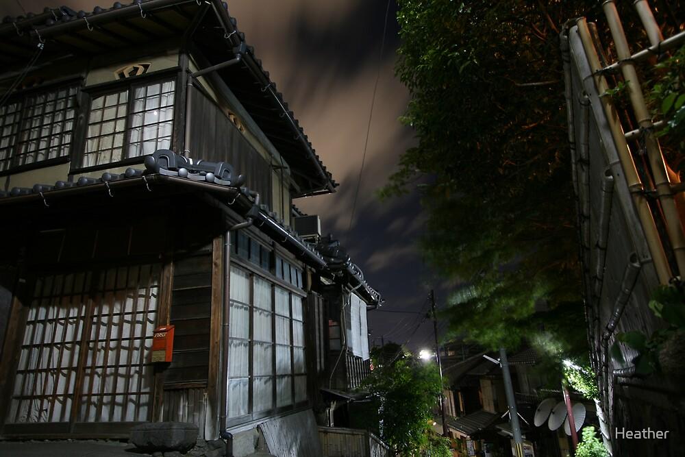 Kyoto backstreet by Heather