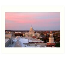 Providence at Sunset Art Print