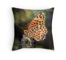 Colorful butterly Throw Pillow