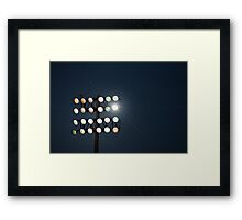 Beneath Friday Night Lights Framed Print