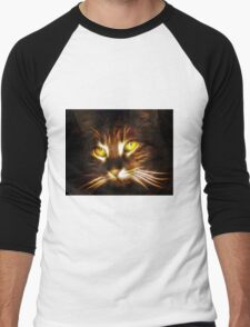Kitty cat glowing eyes fractal artwork T-Shirt