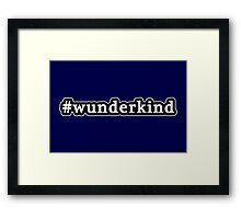 Wunderkind - Hashtag - Black & White Framed Print