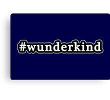 Wunderkind - Hashtag - Black & White Canvas Print
