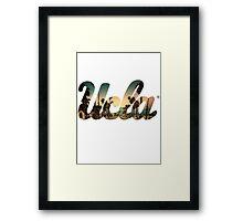 UCLA Cali style Framed Print