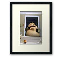 JABBA SELFIE Framed Print