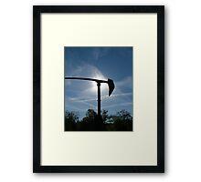 backlit sculpture Framed Print