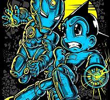 Iron Boy vs Astro Man by Crab-Metalitees