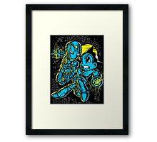 Iron Boy vs Astro Man Framed Print