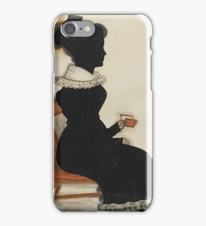 Attributed to 'The Red Book Artist,' 19th century FULL-LENGTH PORTRAIT OF A WOMAN IN A CHAIR HOLDING A BOOK iPhone Case/Skin