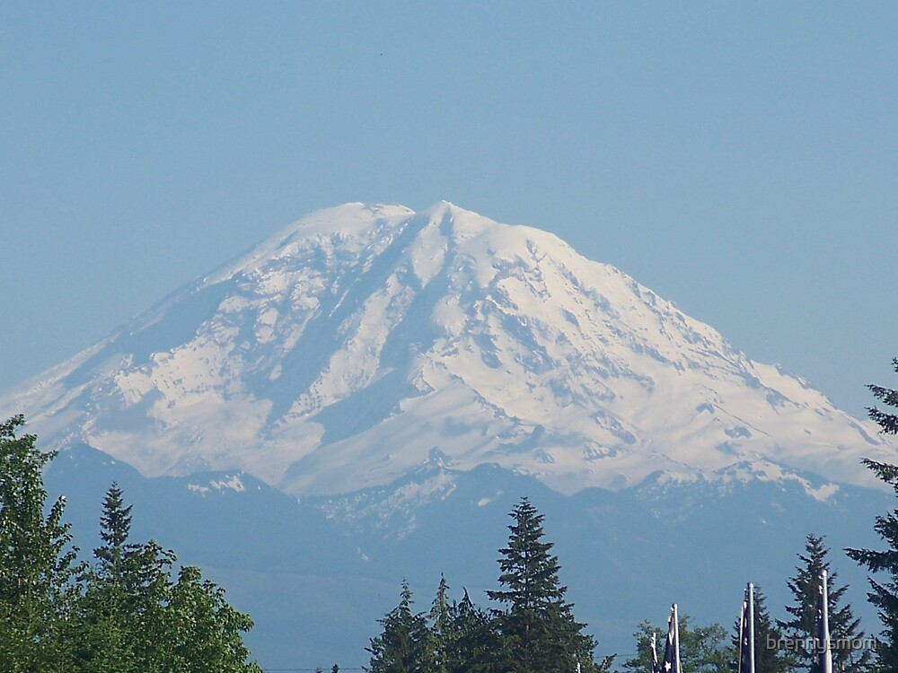 Mount Rainier in Washington State by brennysmom