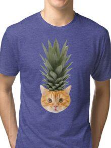 [ P I N E A P P L E _ P U N K _ K I T T Y] Tri-blend T-Shirt