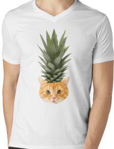 [ P I N E A P P L E _ P U N K _ K I T T Y] Mens V-Neck T-Shirt