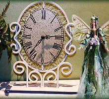 WROUGHT IRON DESIGN CLOCK PLANT & FAIRY DOLL PICTURE by ✿✿ Bonita ✿✿ ђєℓℓσ
