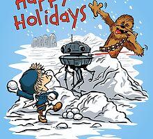 Snow Wars - Happy Holidays card by DJKopet