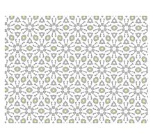 WHITE, SOFT GREY & LIGHT YELLOW GEOMETRIC  by ackelly4