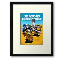 Despicable Jawas - Seasons Greetings Card Framed Print