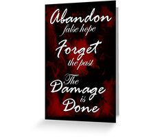 Alice Madness Returns: The Damage Is Done Greeting Card