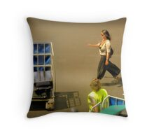 The Baggage Handlers Throw Pillow