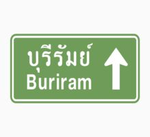 Buriram, Isaan, Thailand Ahead ⚠ Thai Traffic Sign ⚠ T-Shirt