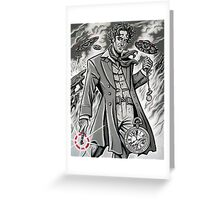 Time War Eighth Doctor Greeting Card