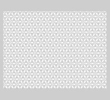 MODERN GEOMETRIC DESIGN/WHITE & GREY by ackelly4